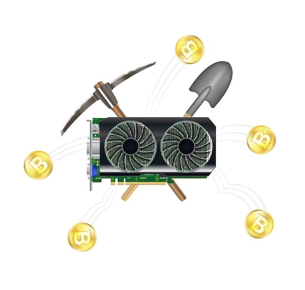 Computer graphic vga card mining bitcoin