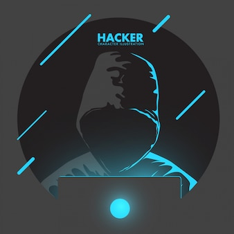 Computer hacker illustration