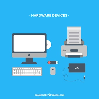 Computer hardware device icon vectors
