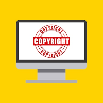 Computer icon. copyright design. vector graphic
