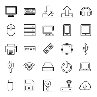 Computer icons outline