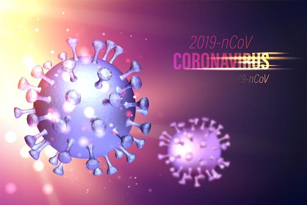 Компьютерная модель covid-19 как иллюстрация быстро растущей глобальной пандемии. наука иллюстрация опасности болезни, 3d модель коронавируса
