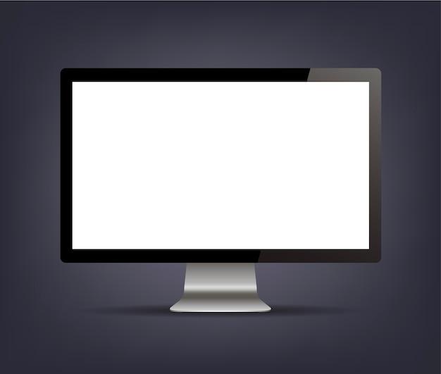 Дисплей монитора компьютера изолирован
