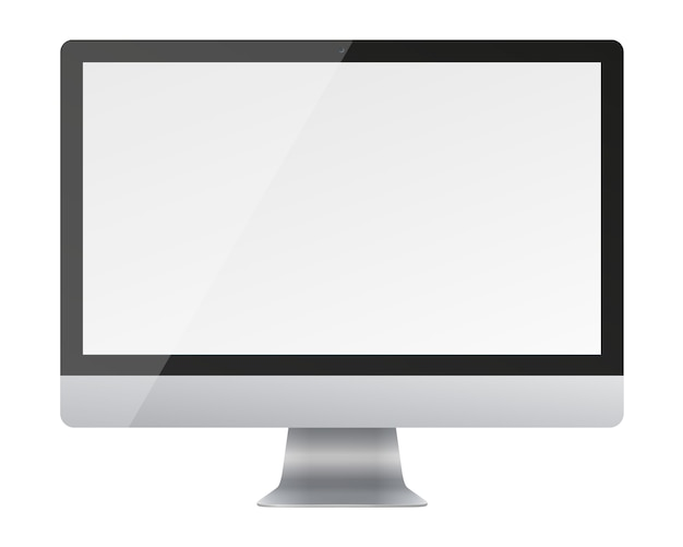 Computer monitor display with blank screen isolated