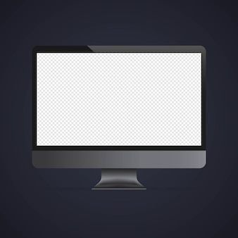 Computer monitor mockup banner. vector on isolated background. eps 10.