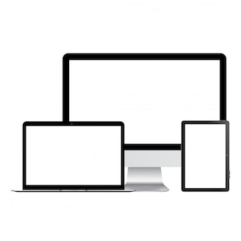 Computer monitor and tablet mock up