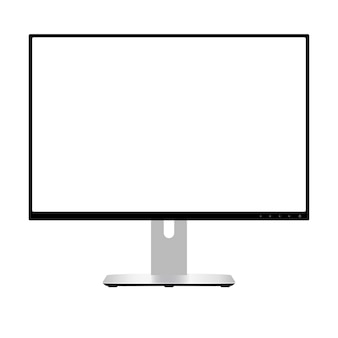 Computer monitor. wide screen lcd display. vector.
