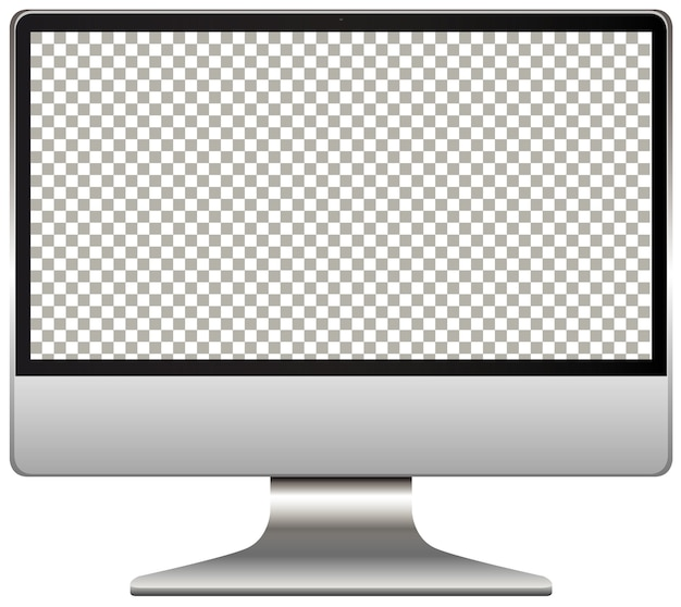 Computer monitor with transparent screen