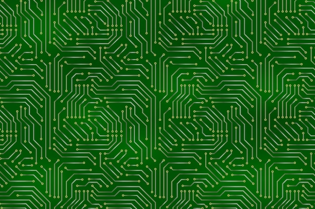 Computer motherboard background with circuit board electronic elements.