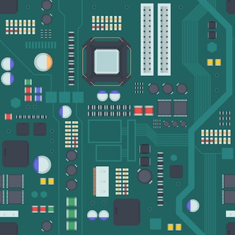 Computer motherboard seamless pattern