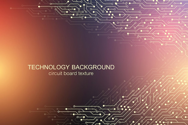 Computer motherboard vector background template