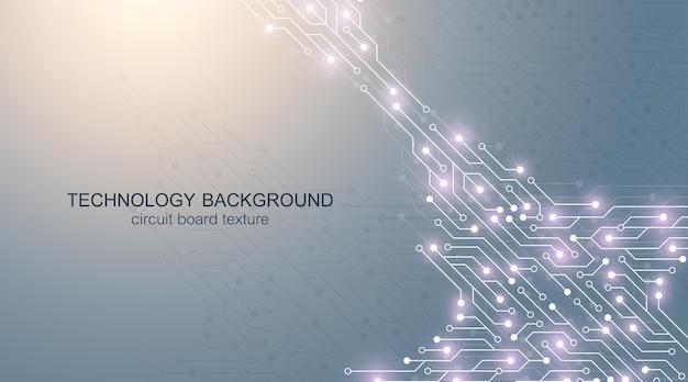回路基板の電子要素とコンピューターのマザーボードベクトルの背景。コンピュータ技術、エンジニアリングの概念のための電子テクスチャ。マザーボードコンピュータは抽象的なイラストを生成しました。