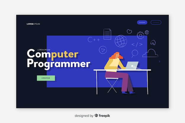 Computer programmer landing page
