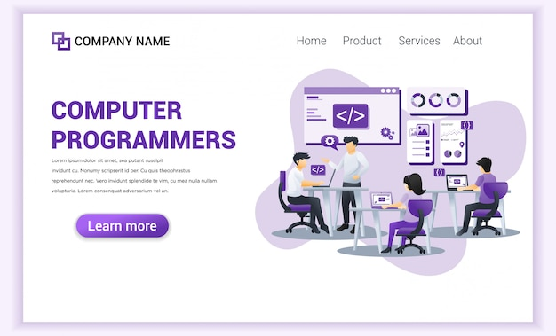 Computer programmers  landing page