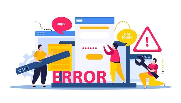 Illustrazione di riparazione del computer