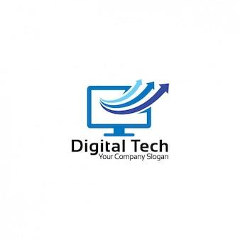 Computer shape logo template