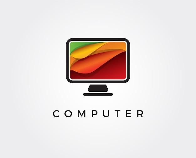 Computer technology logo template designs computer service logo template designs