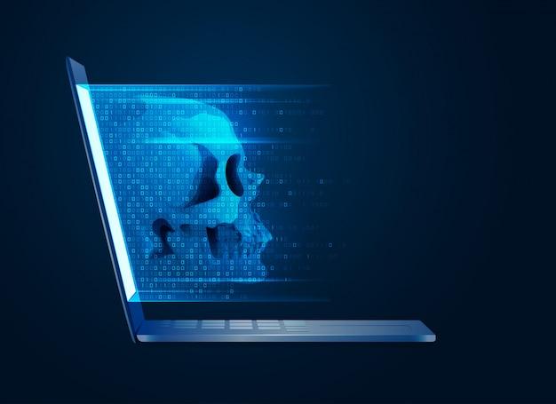 Computer virus conceptual idea