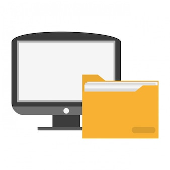 Computer with folder