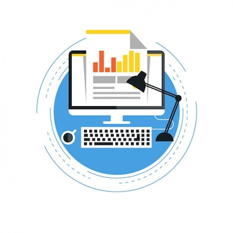 Computer with a statistical document