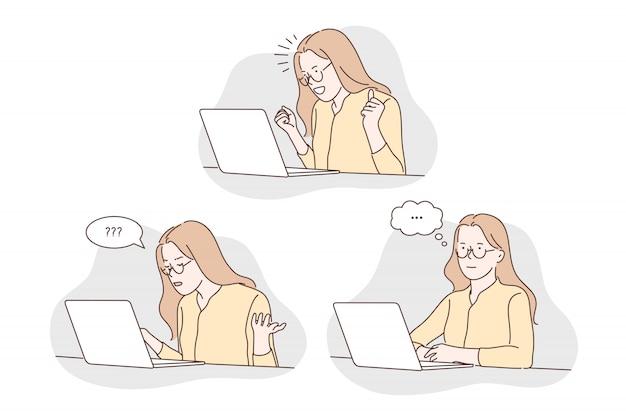 Computer work concept