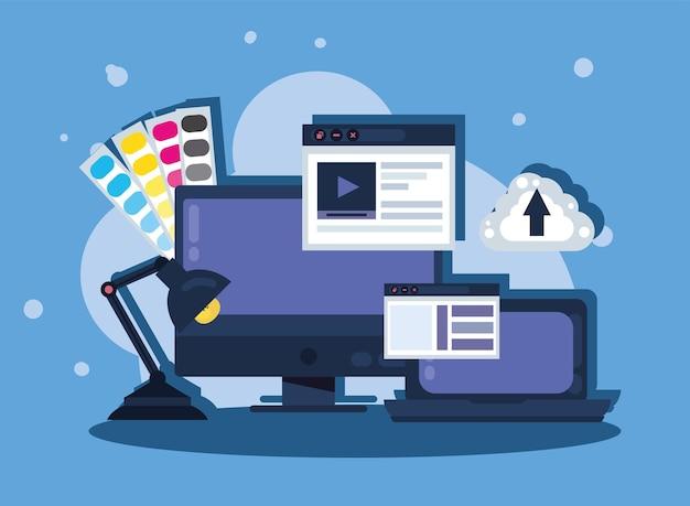 컴퓨터 및 웹 디자인