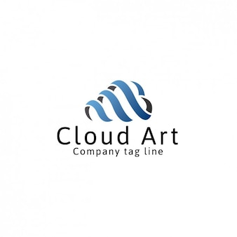 Computing cloud logo template