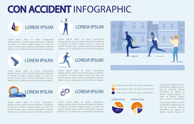 Con авария инфографики.