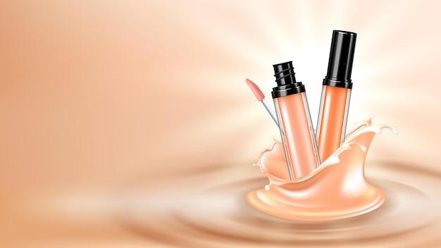 コンシーラーフェイススキンケア化粧品コピースペースベクトル