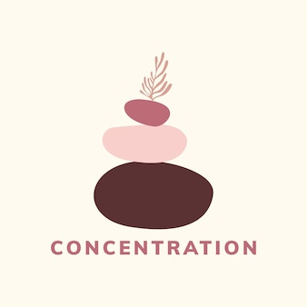 Concentration and meditation icon vector