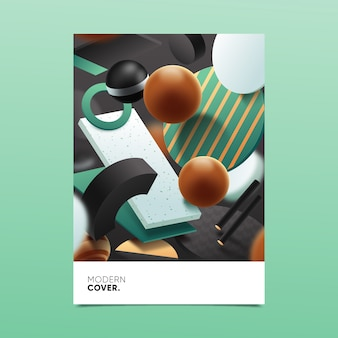 Concept of 3d geometric shape cover for template