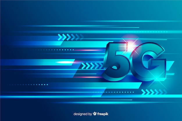 Concept of 5g technology network lines