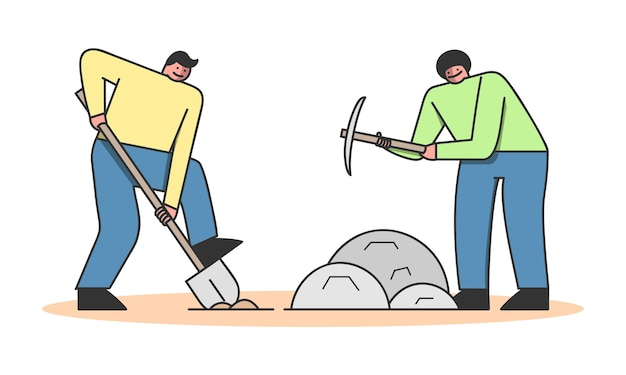 Concept of archeology excavation