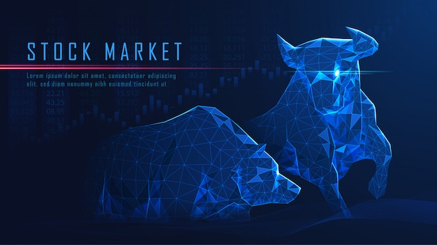 Concept art of bullish vs bearish