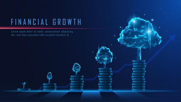 금융 성장의 컨셉 아트
