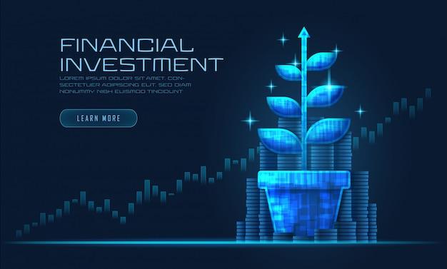 Концепт-арт финансового роста Premium векторы