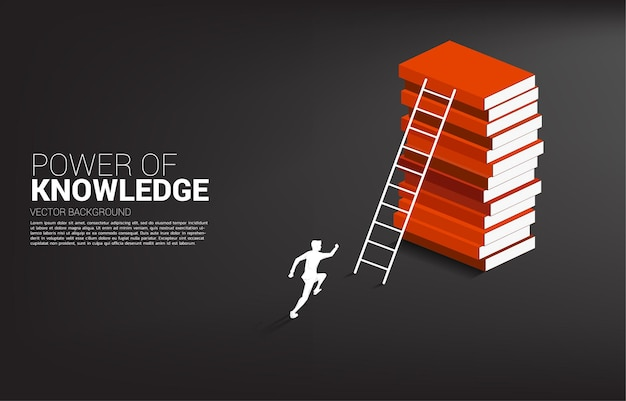 Concept background for power of knowledge.
