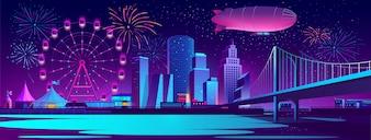 夜市とコンセプト背景