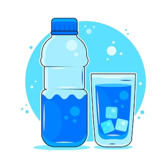 Concept of the benefits of drinking water.