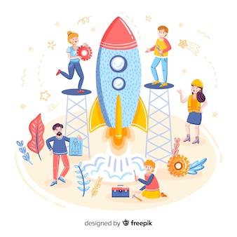 Concept of building a rocket