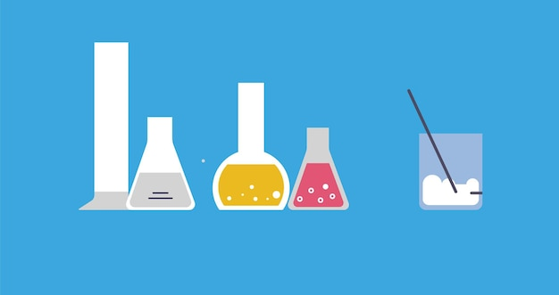 Concept of chemical research. web banner for scientific experiments and research.
