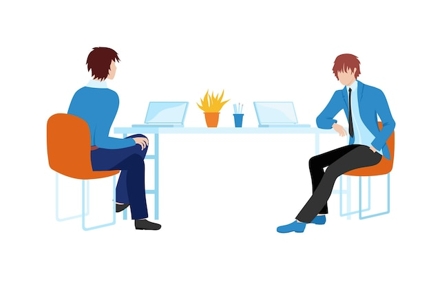 Concept of coming up with a work plan. web banner employees at work. planning work projects design.
