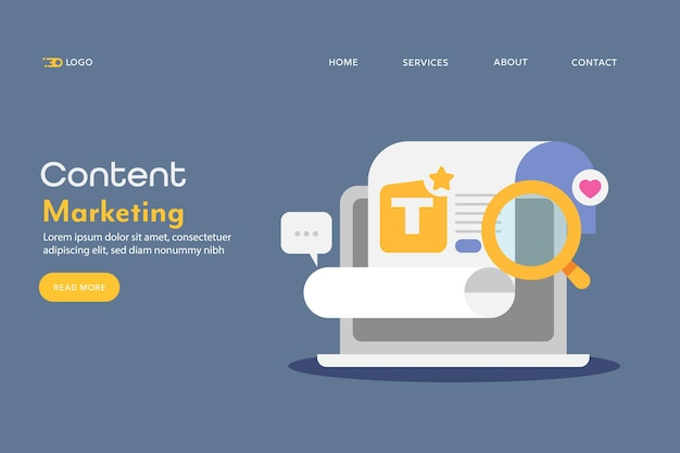 Concept of content marketing