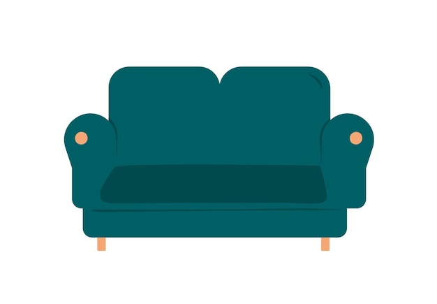 Concept of a cozy home sofa design. web banner relax on the couch watching tv after work vector.