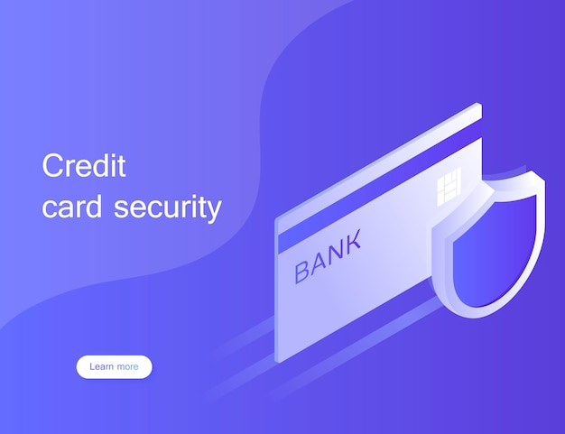 Concept credit card security. online payment protection system with smartphone. secure bank transaction with password verification via internet. modern illustration in isometric style
