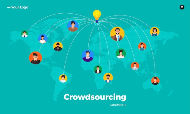 Concept crowdsourcing.  illustrate.