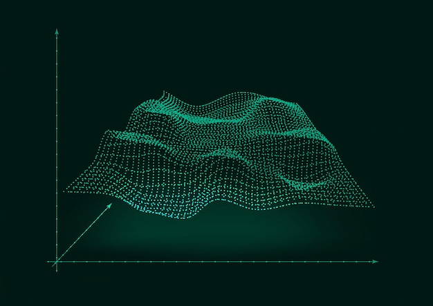 Concept design of wave emitting in space background