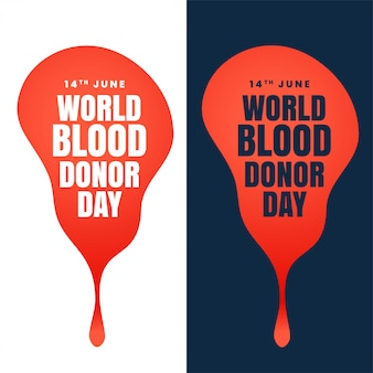 Concept design of world blood donor day