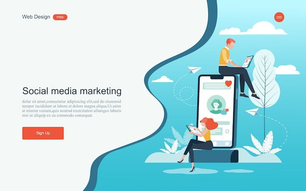 Concept for digital marketing,analysis and development.