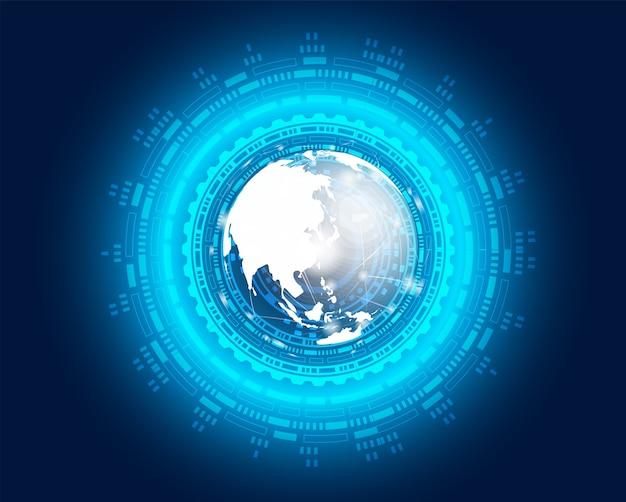 Concept digital technology background Premium Vector
